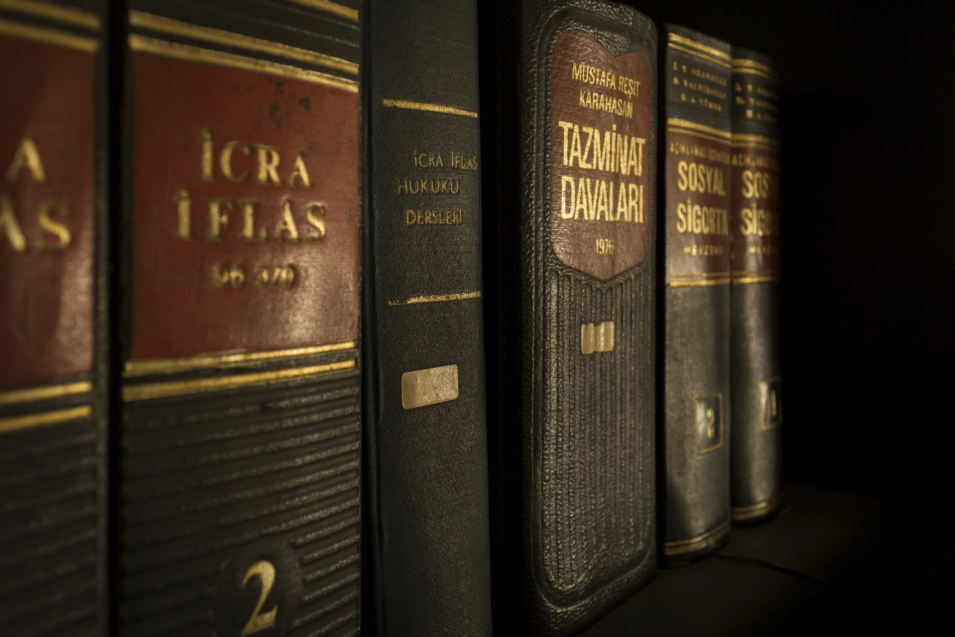Bookshelf Containing Old Copies Of Legal Literature