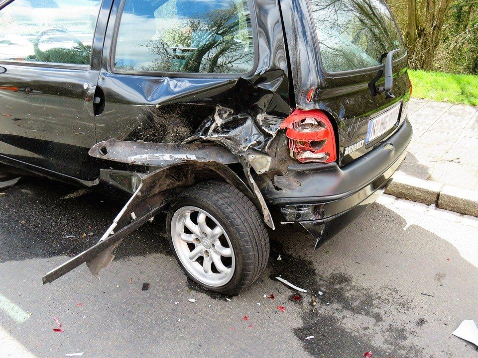 A car after a car crash