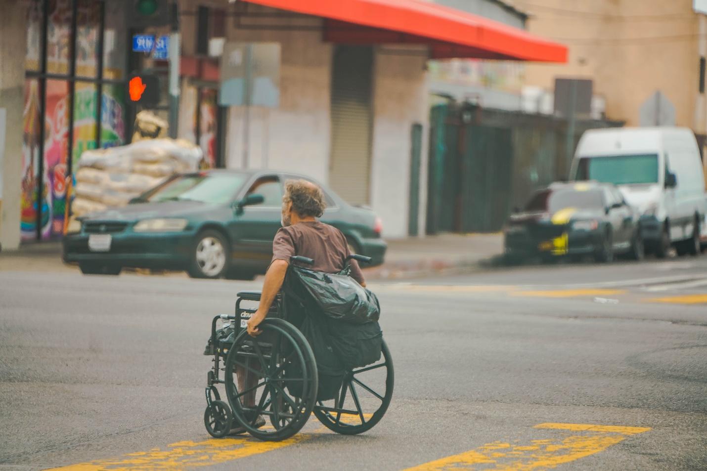 person in a wheelchair