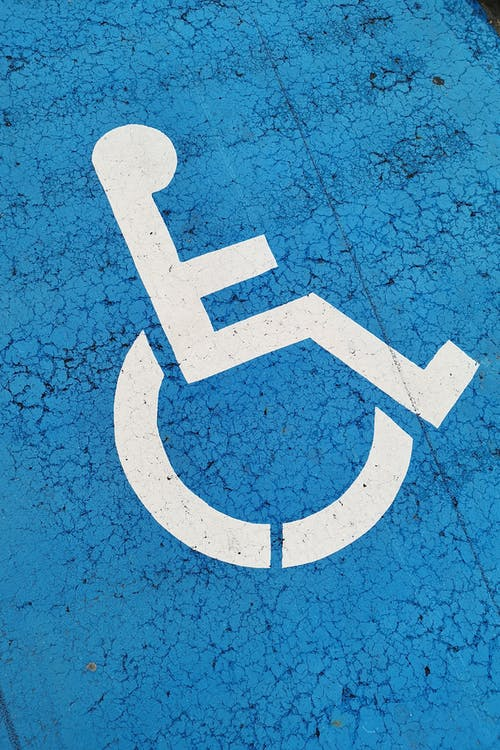 a picture showing disability symbol